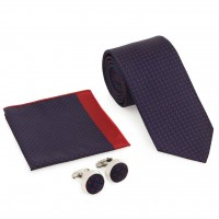 Kravat Kol Düğmesi Hediyelik Set-Brianze KMK-20
