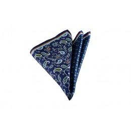 Lacivert Çiçekli Mendil Brianze M-71