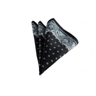Siyah Desenli Mendil Brianze M-67