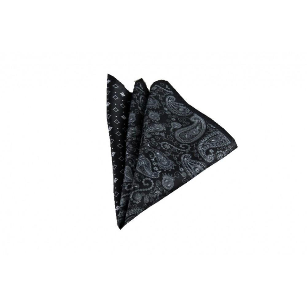 Siyah Kareli ve Şal Desen Mendil Brianze M-63