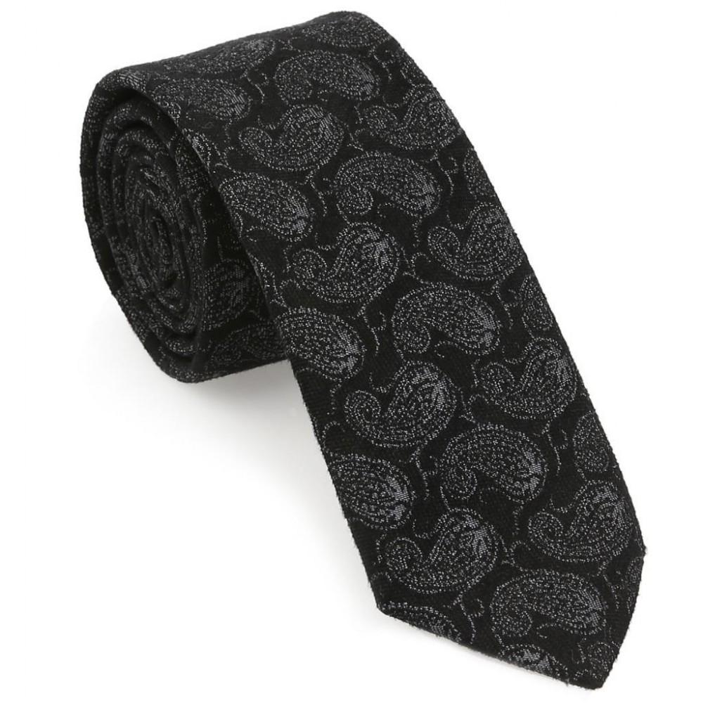 Siyah Şal Desen Yün Kravat-Brianze YK-6