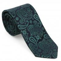 Yeşil Şal Desen Mendilli Kravat-Brianze MKAO-6